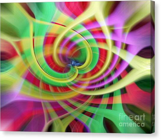 Caught Up In A Colorful Swirl Canvas Print