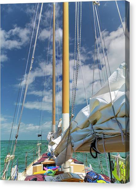 Carribbean Canvas Print - Casual Romance With The Sea by Betsy Knapp