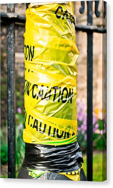 Caution Canvas Print - Caution by Tom Gowanlock