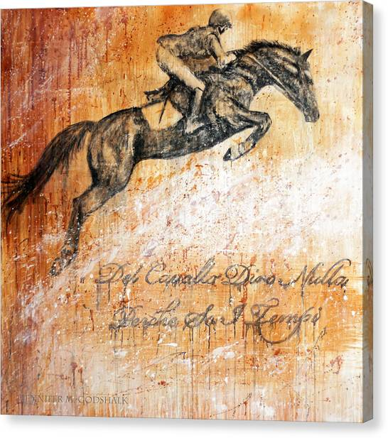 Cavallo Contemporary Horse Art Canvas Print