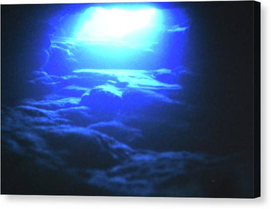 Underwater Caves Canvas Print - Cave Diving by Michel Belanger