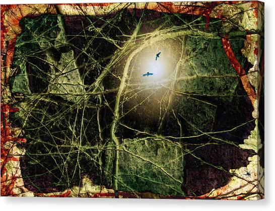 Fantasy Cave Canvas Print - Cave Dweller by Darin Baker
