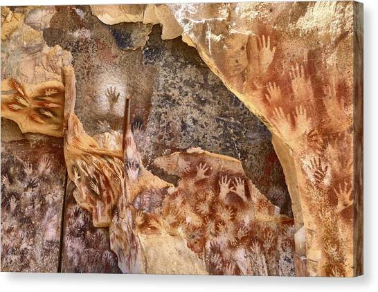 Cave Of The Hands Patagonia Argentina Canvas Print