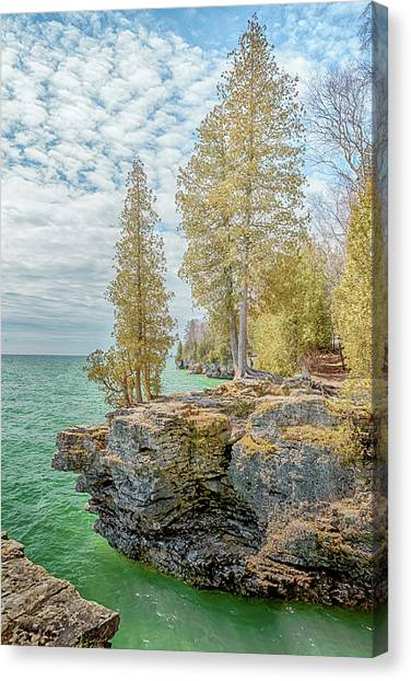 Underwater Caves Canvas Print - Cave Point Bluffs 2 by Susan Rissi Tregoning