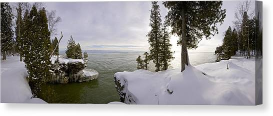 Cave Point Panorama Canvas Print by Richard Steinberger