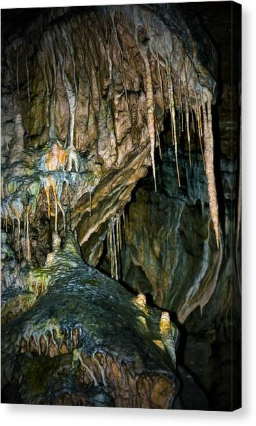 Stalagmites Canvas Print - Cave03 by Svetlana Sewell