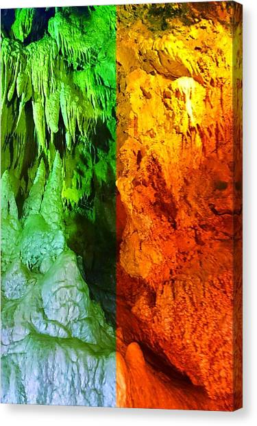 Ice Caves Canvas Print - Cool And Hot Cave by Shunsuke Kanamori