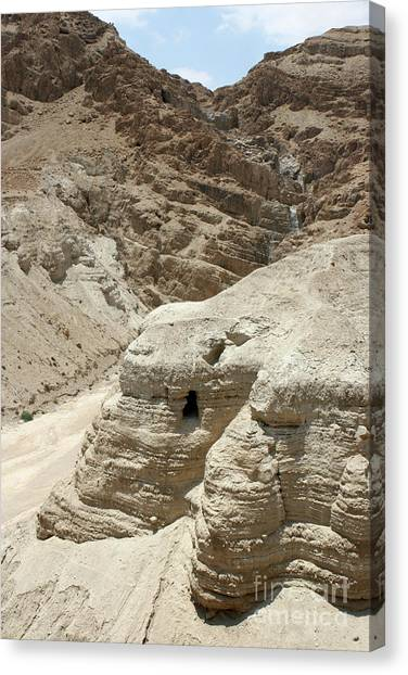 Caves Of The Dead Sea Scrolls Canvas Print