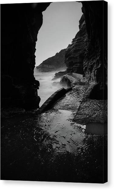 Mountain Caves Canvas Print - Caves Of Thompsons Beach by Chantelle Flores