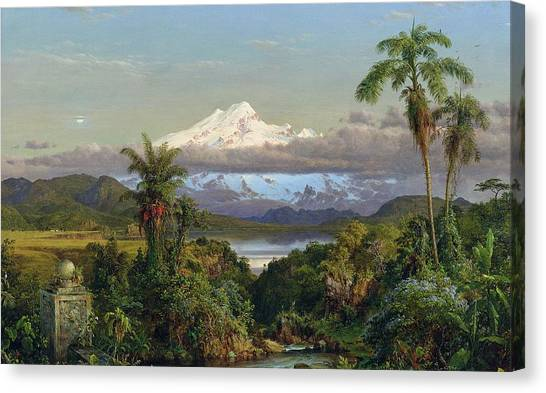 Andes Mountains Canvas Print - Cayambe by Frederic Edwin Church
