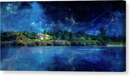 Carribbean Canvas Print - Cayman Nightscape by Betsy Knapp