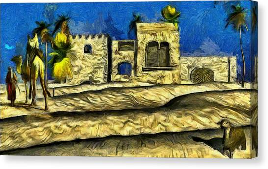 Arabian Desert Canvas Print - Crossing The Arabian Desert by Karim Alhalabi