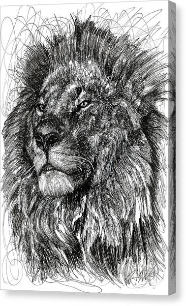 Lions Canvas Print - Cecil The Lion by Michael Volpicelli