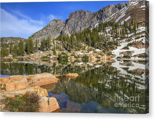 Cecret Lake And Devil's Castle Canvas Print