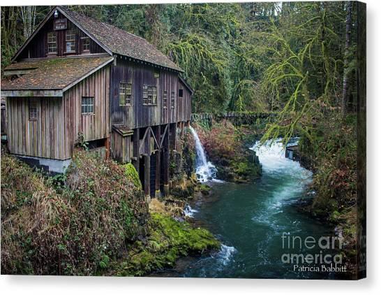 Cedar Grist Mill Canvas Print
