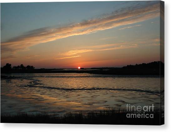 Cedar Key Sunset 1 Canvas Print