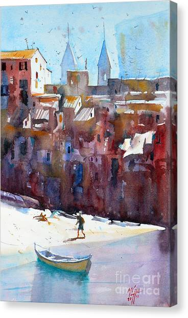 Cefalu Canvas Print by Andre MEHU