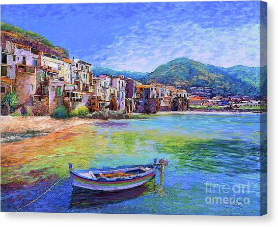 Roman Art Canvas Print - Cefalu Sicily Italy by Jane Small