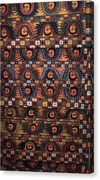 Coptic Art Canvas Print - Ceiling Of Angels, Abba Pantaleon Monastery  by Aidan Moran