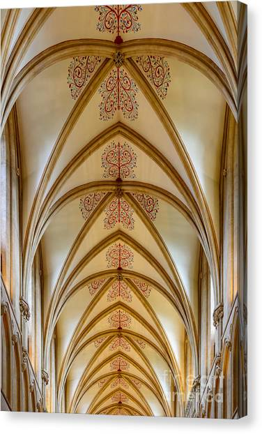 Ceiling, Wells Cathedral. Canvas Print
