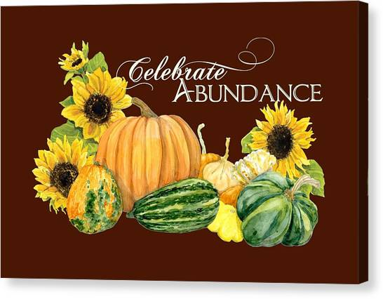 Vegetable Stands Canvas Print - Celebrate Abundance - Harvest Fall Pumpkins Squash N Sunflowers by Audrey Jeanne Roberts