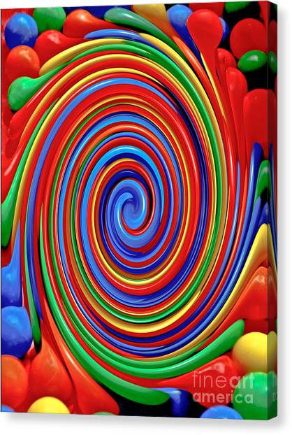 Celebrate Life And Have A Swirl Canvas Print