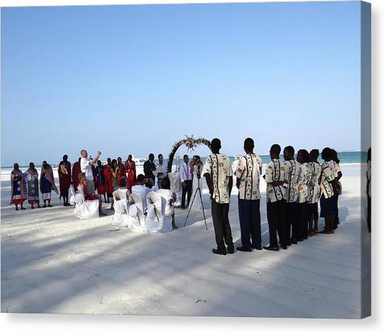Exploramum Canvas Print - Celebrate Marriage In Kenya by Exploramum Exploramum