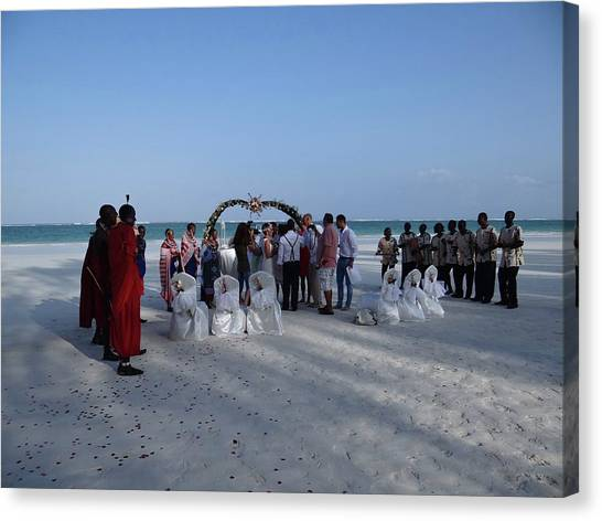 Exploramum Canvas Print - Celebrate Marriage On The Beach by Exploramum Exploramum