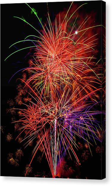 Pyrotechnic Canvas Print - Celebrating Everything by Garry Gay