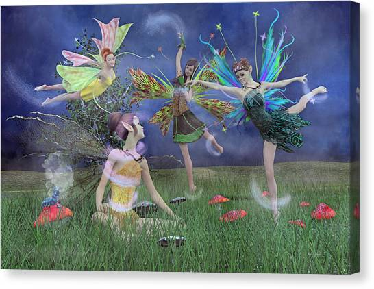 Sprite Canvas Print - Celebration Of Night Alice And Oz by Betsy Knapp