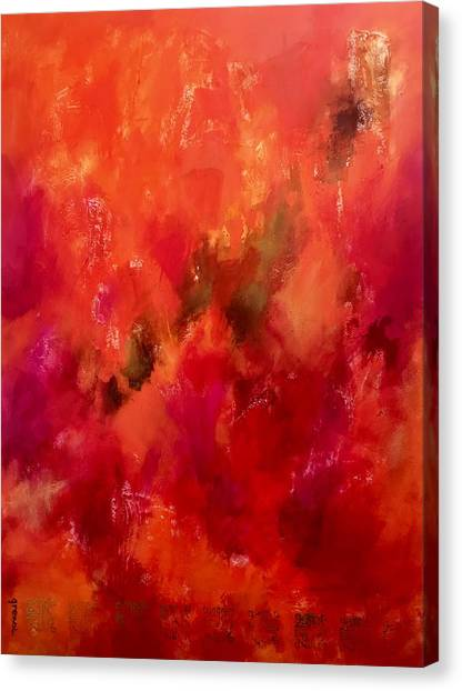 Sikh Art Canvas Print - Celebrations Wedding Orange Abstract  by Sukhpal Grewal