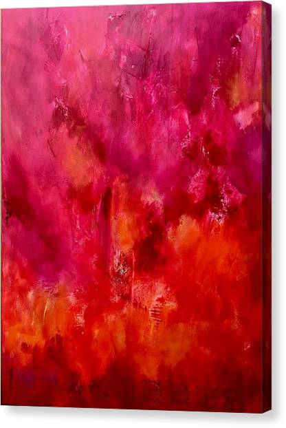Sikh Art Canvas Print - Celebrations Wedding Pink Abstract  by Sukhpal Grewal