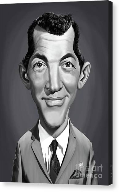 Canvas Print featuring the digital art Celebrity Sunday - Dean Martin by Rob Snow