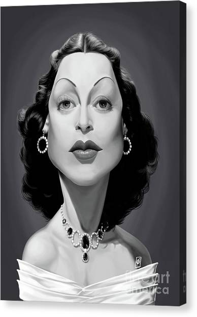 Canvas Print featuring the digital art Celebrity Sunday - Hedy Lamarr by Rob Snow