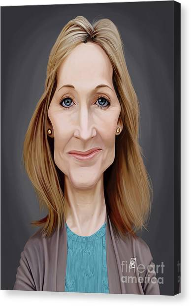 Canvas Print featuring the digital art Celebrity Sunday - J.k.rowling by Rob Snow