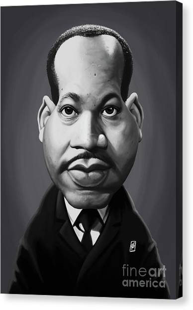 Canvas Print featuring the digital art Celebrity Sunday - Martin Luther King by Rob Snow