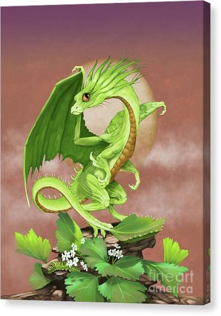 Celery Dragon Canvas Print