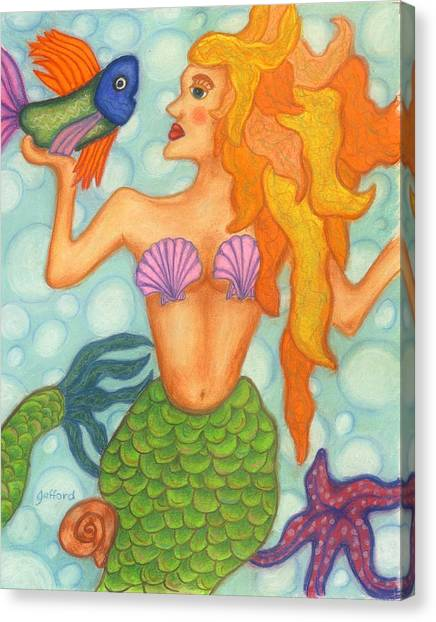 Celeste The Mermaid Canvas Print