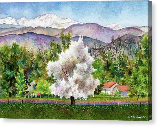 Blooming Tree Canvas Print - Celeste's Farm by Anne Gifford