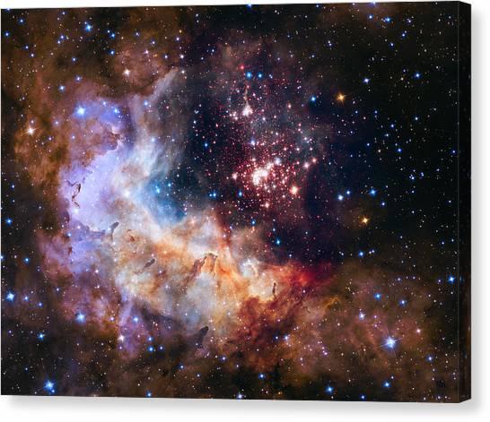 Celebrating Hubble's 25th Anniversary Canvas Print