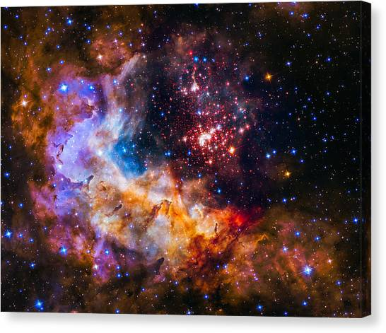 Interstellar Space Canvas Print - Celestial Fireworks by Marco Oliveira