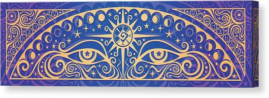 Celestial Canvas Print - Celestial Gaze by Cristina McAllister