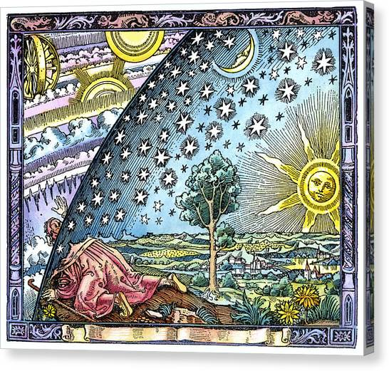 Pilgrims Canvas Print - Celestial Mechanics, Medieval Artwork by Detlev Van Ravenswaay