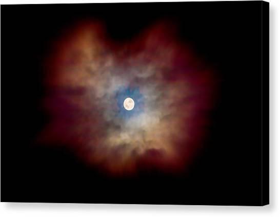 Blood Moon Canvas Print - Celestial Moon by Az Jackson