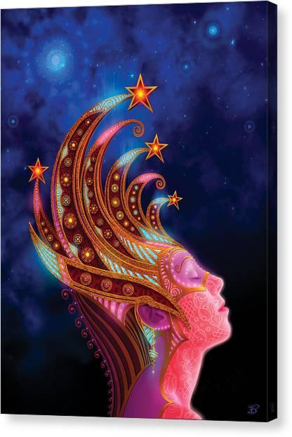 Celestial Canvas Print - Celestial Queen by Philip Straub