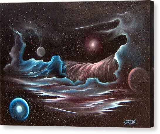 Celestial Wave Canvas Print by David Gazda