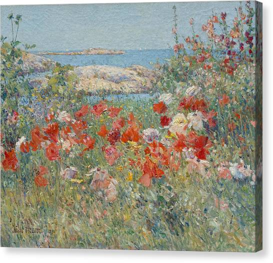 American Painters Canvas Print - Celia Thaxter's Garden, Isles Of Shoals, Maine by Childe Hassam