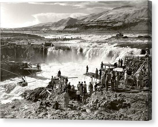 Celilo Falls Canvas Print by Unknown