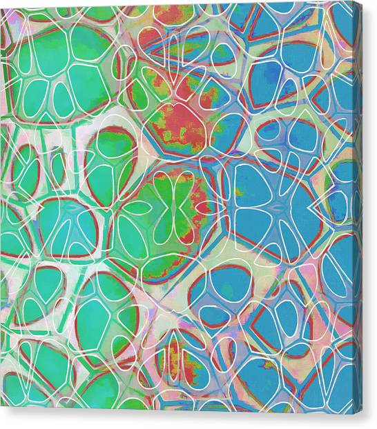 Green Canvas Print - Cell Abstract 10 by Edward Fielding