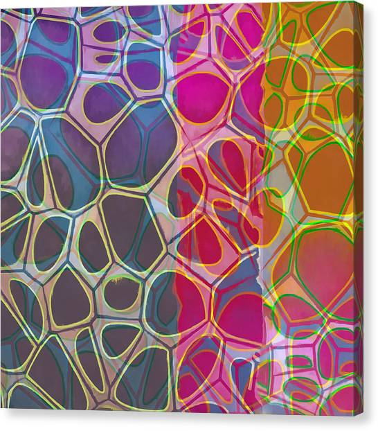 Yellow Canvas Print - Cell Abstract 11 by Edward Fielding